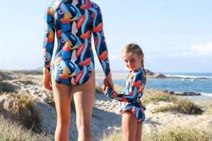 Kid's Surfsuit Exotic Floral