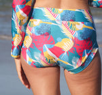 Load image into Gallery viewer, Women's Boyleg Banded Briefs - Seabirds