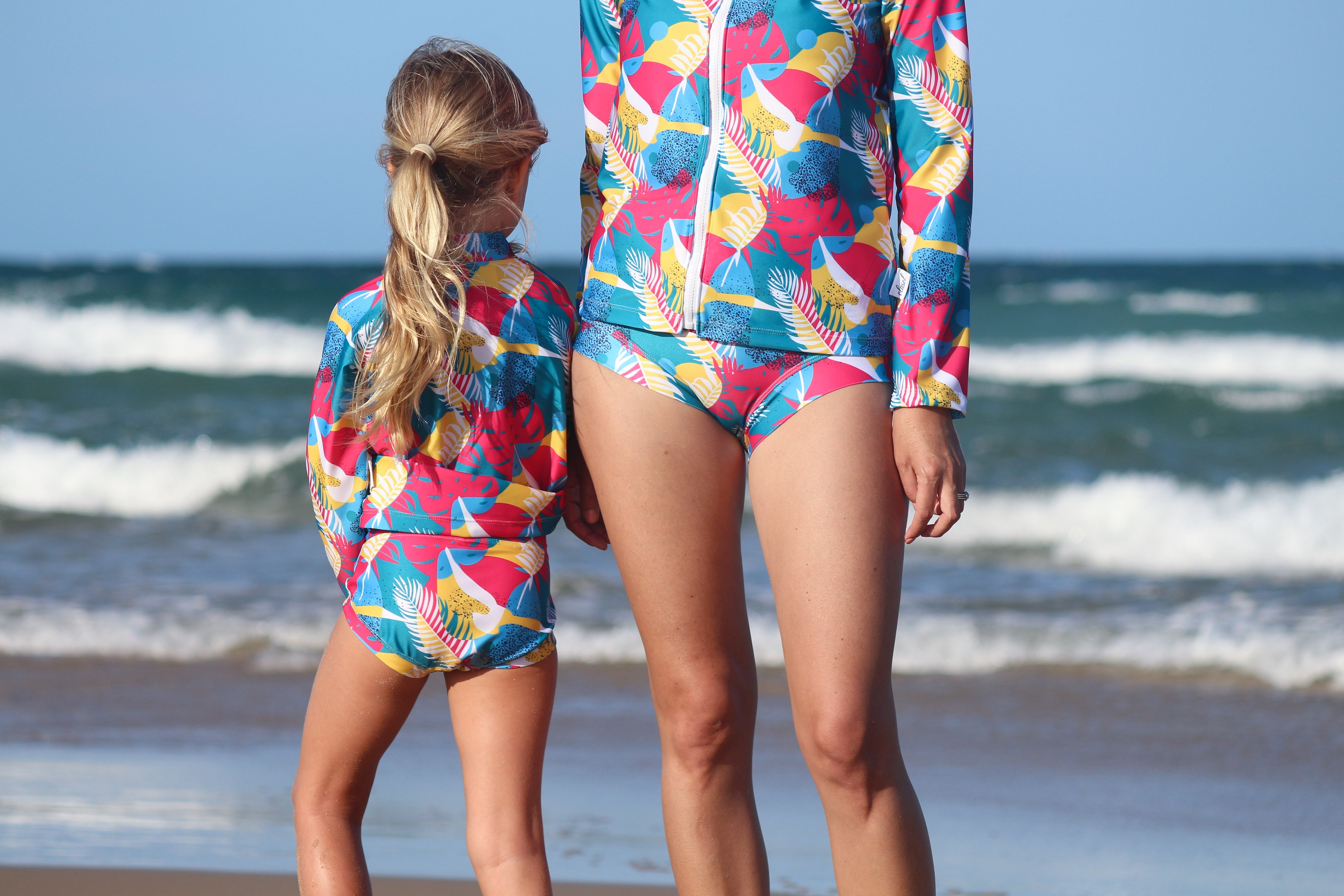 Kid's Zip Through Rashie Set-Seabirds
