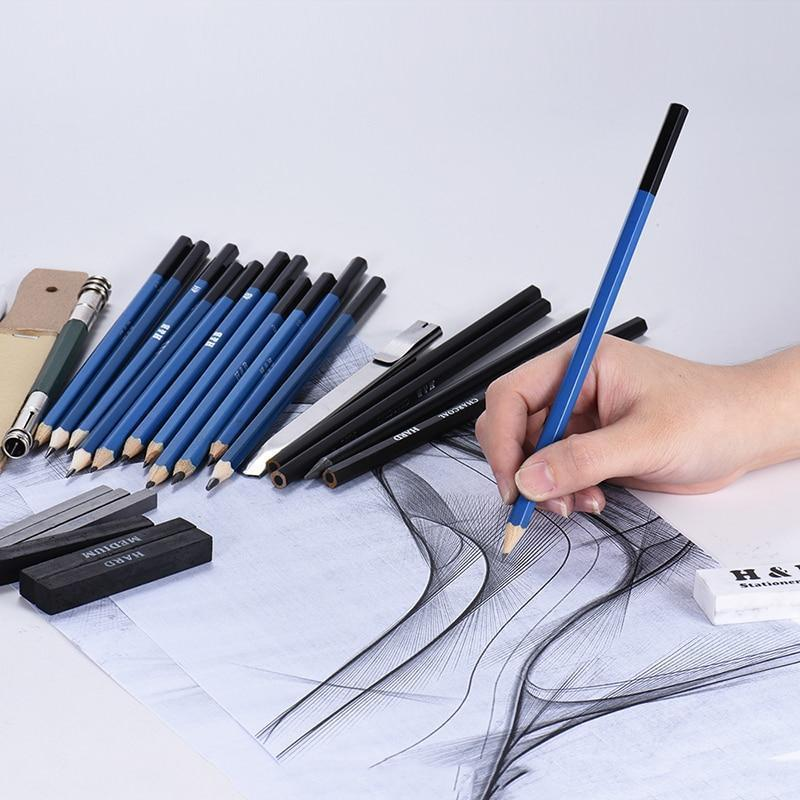 32pcs Professional Sketch And Drawing Kit - RAPBLUE