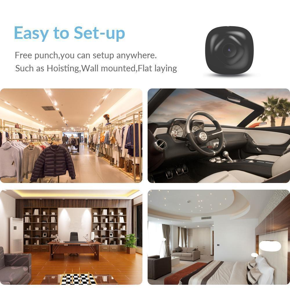 1.5 Inches No Light Infrared WiFi Mini Nanny Camera with HD CMOS Lens - RAPBLUE