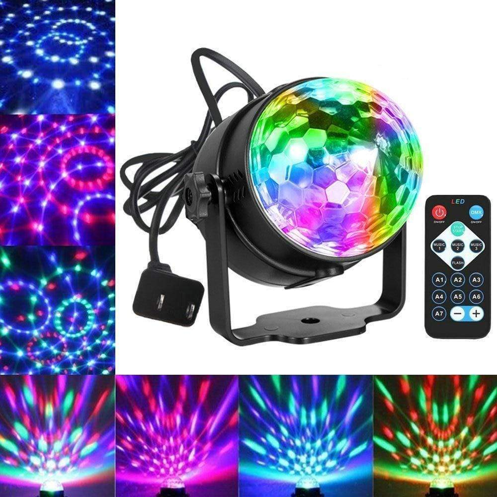 Sound Activated 7 Colors Laser Projector Party Light - RAPBLUE