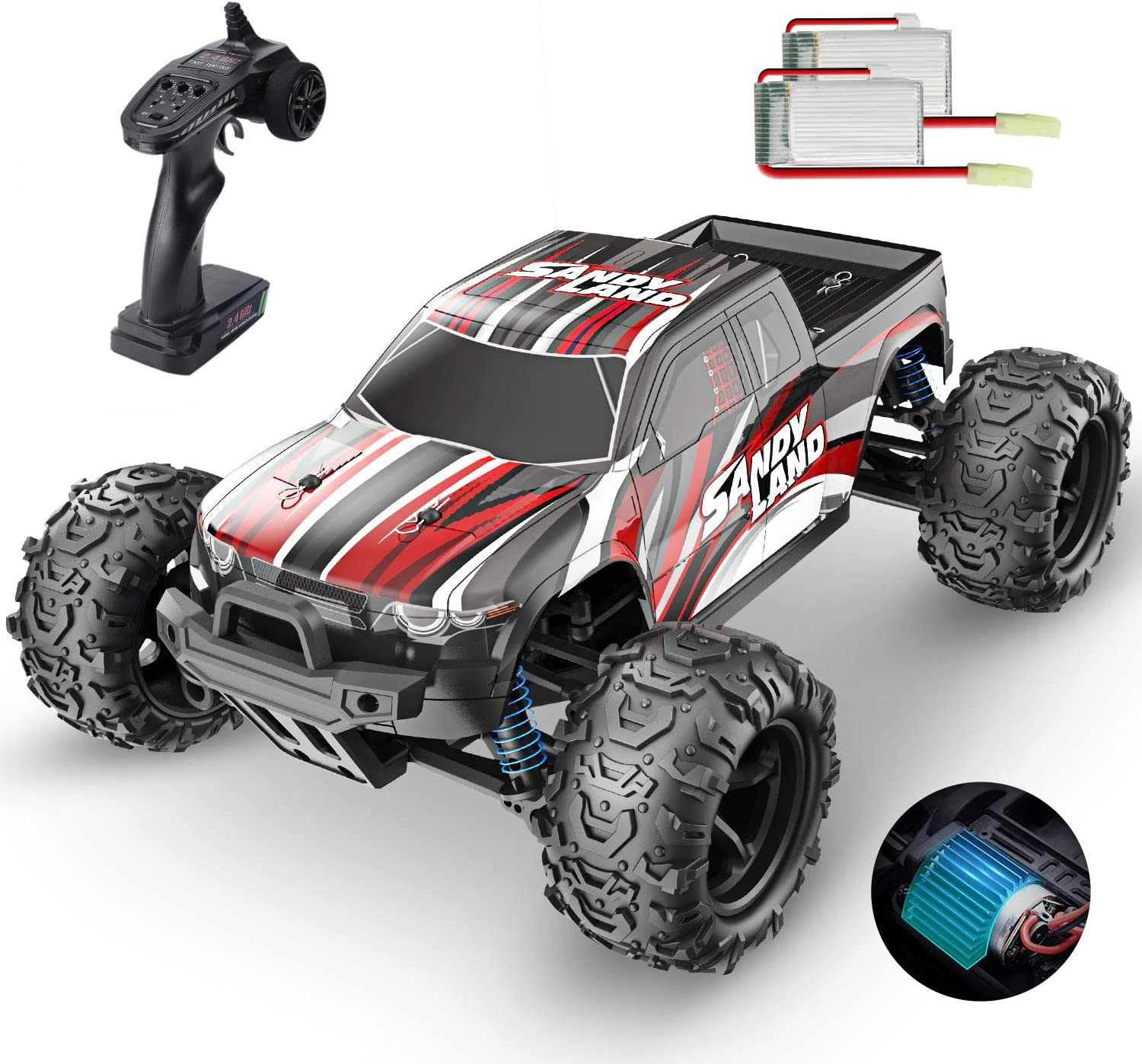 1:18 Scale Best High Speed Off-Road Remote Control RC Car - RAPBLUE