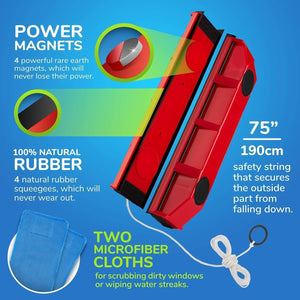 Magnetic Window Cleaner - RAPBLUE