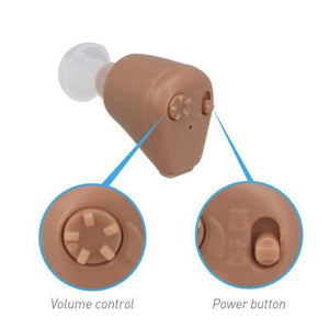 Rechargeable Mini In Ear Hearing Aid With Adjustable Tone Amplifier - RAPBLUE