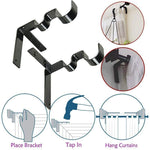 Double Curtain Rod Holder - RAPBLUE
