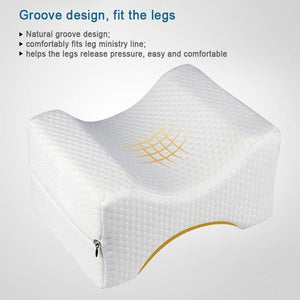 Under Knee Pillow - Cushion For Sciatica Relief, Back Pain, Leg Pain, Pregnancy, Hip And Joint Pain - RAPBLUE