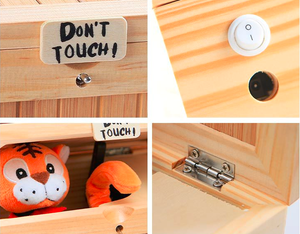 """Don't Touch!"" Wooden Useless Box - RAPBLUE"