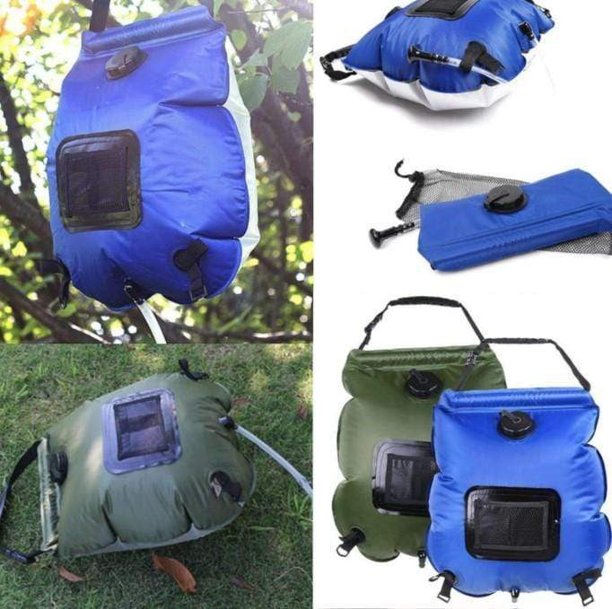 Portable Camping Shower Bags, Blue - RAPBLUE
