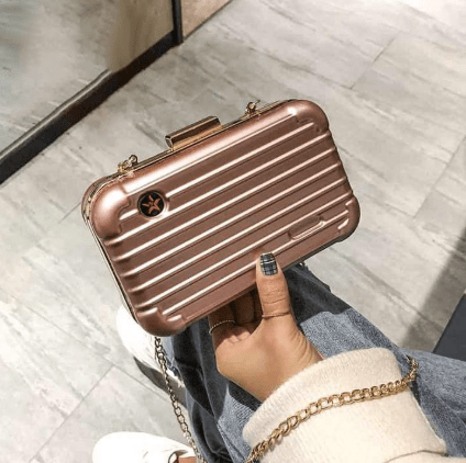 Mini Suitcase Shape Handbag - RAPBLUE