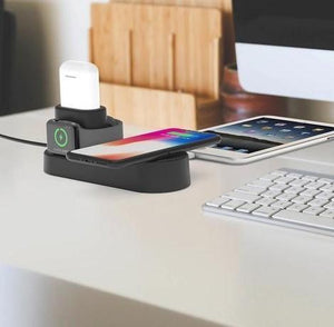 3 in 1 Wireless Fast Charging Dock Station - RAPBLUE