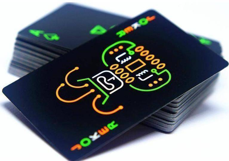 Black Luminous Fluorescent Glow in the Dark Playing Cards - RAPBLUE