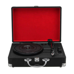 Retro Bluetooth Suitcase Turntable - RAPBLUE