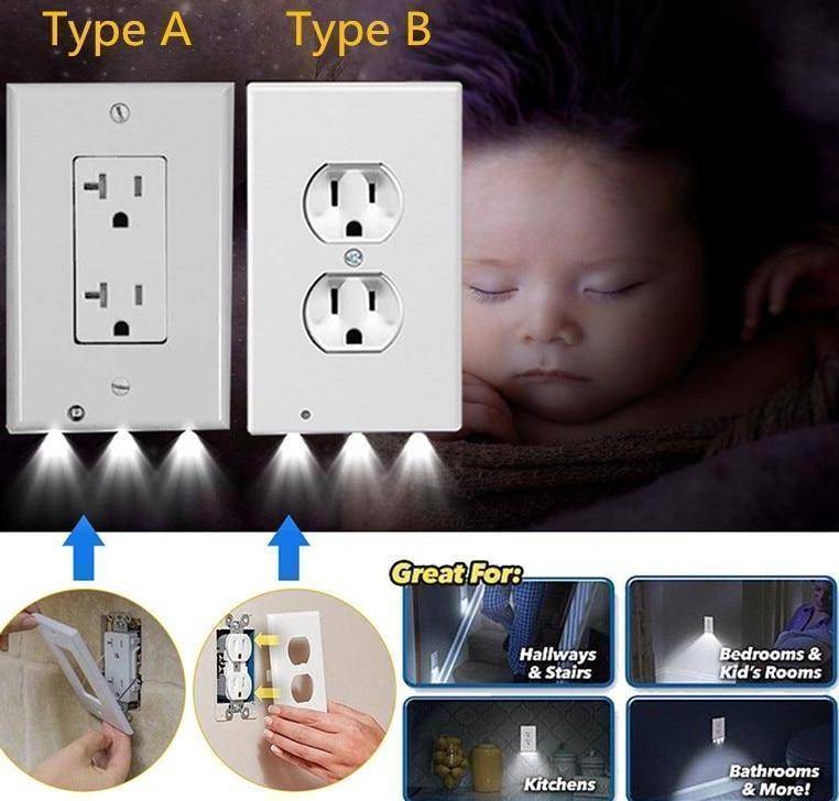 Night Light Outlet Covers - RAPBLUE