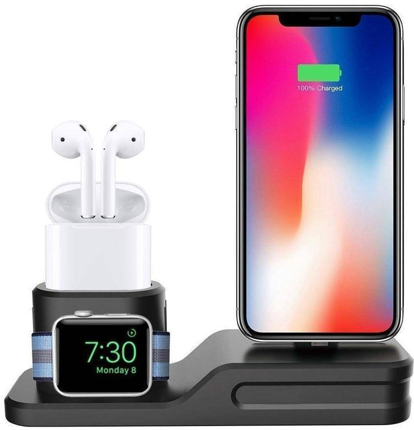 3-IN-1 Charging Dock for Iphone, Apple Watch & Earpods - RAPBLUE