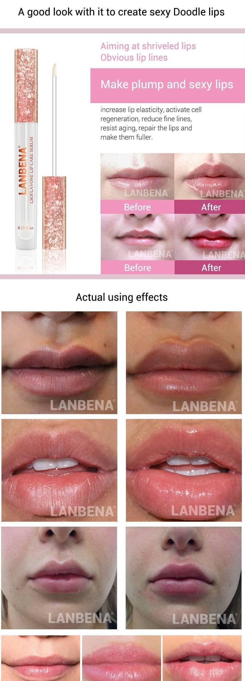 Lanbena Lip Plumper Mask Serum - RAPBLUE