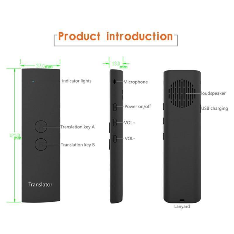 Mini Wireless Two-Way Real Time Bluetooth Language Voice Translator - RAPBLUE