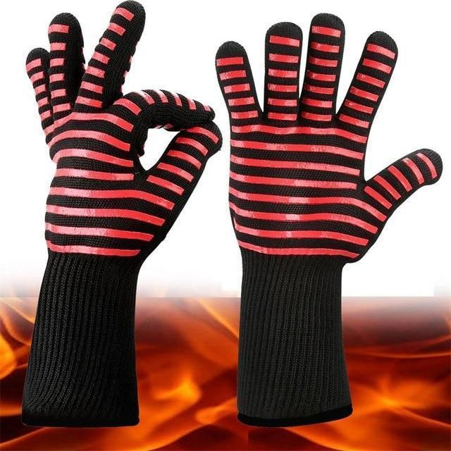 Extreme Heat Resistant BBQ Fireproof Gloves - RAPBLUE