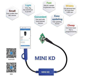 MINI KD Remote Control Generator - Supports more than 1000 Auto Remotes - RAPBLUE