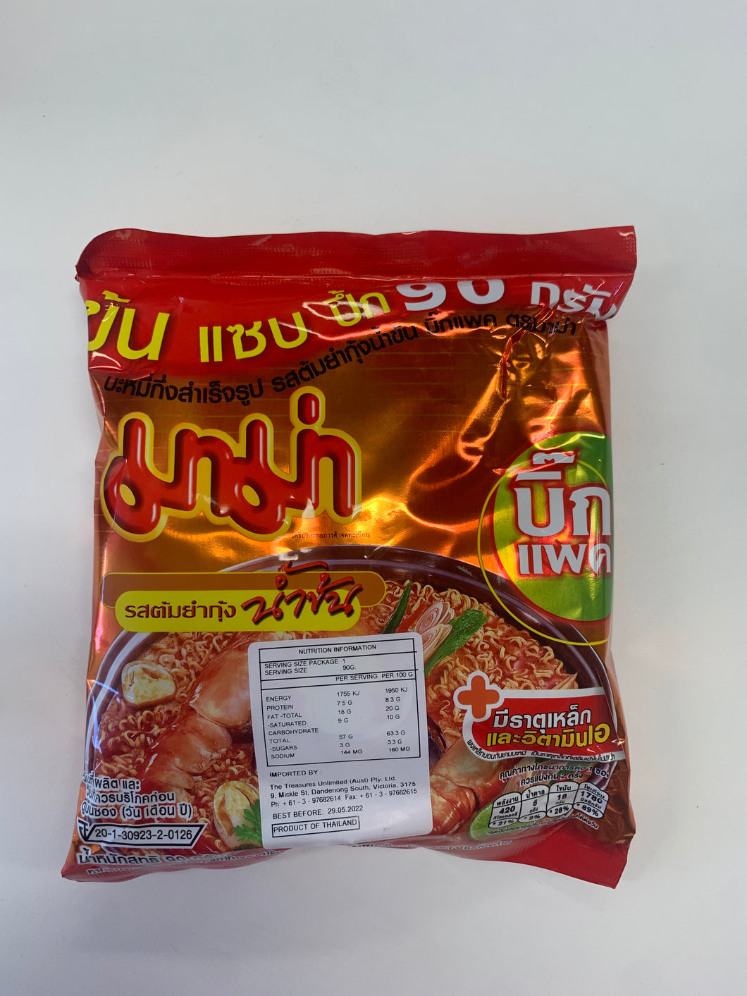 Mama Shrimp Creamy Tom Yum 90g