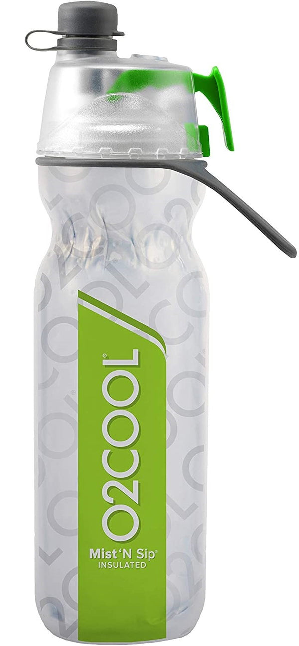 O2 cool mist n sip water bottle green drink bottle insulated 600ml