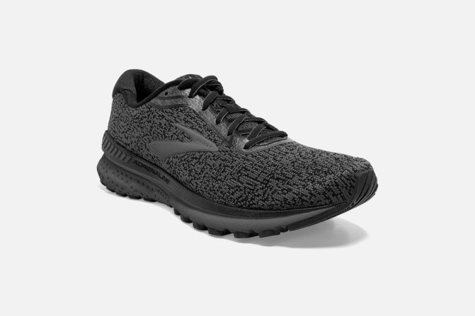 Adrenaline GTS brooks black grey ebony mens running shoe