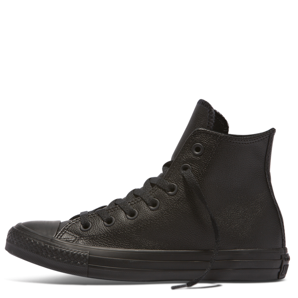 CHUCK TAYLOR ALL STAR LEATHER HI BLACK MONO