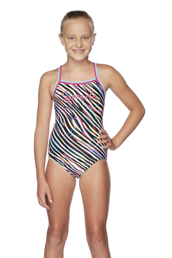 GIRLS ZEBRA STREAK SIERRA ONE PIECE