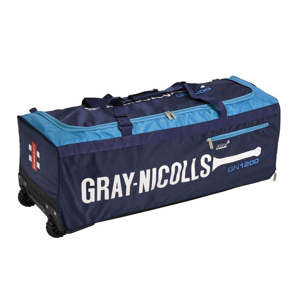 800 gray nicolls wheel bag blue cricket bag