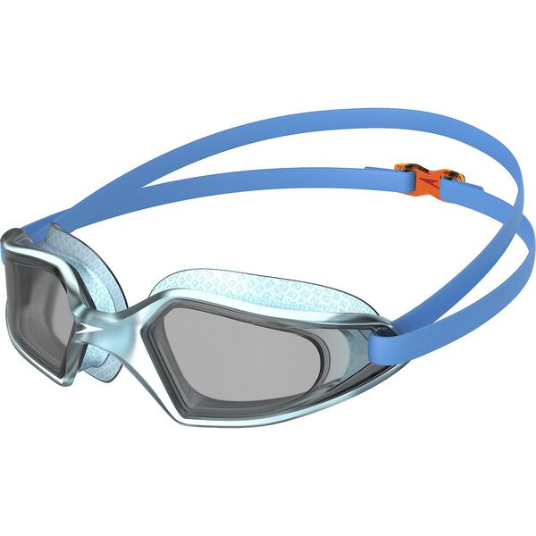 hydropulse goggles junior kids blue smoke blue band tinted lens orange clip swimming