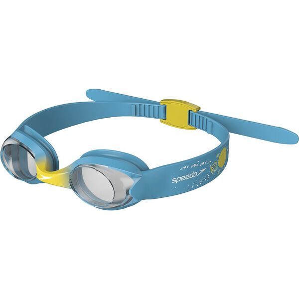 Infant Illusion Goggles Blue Yellow Kids Speedo Swimming Blue Band Yellow Clip Clear Lens