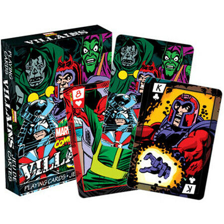 MARVEL VILLIANS PLAYING CARDS