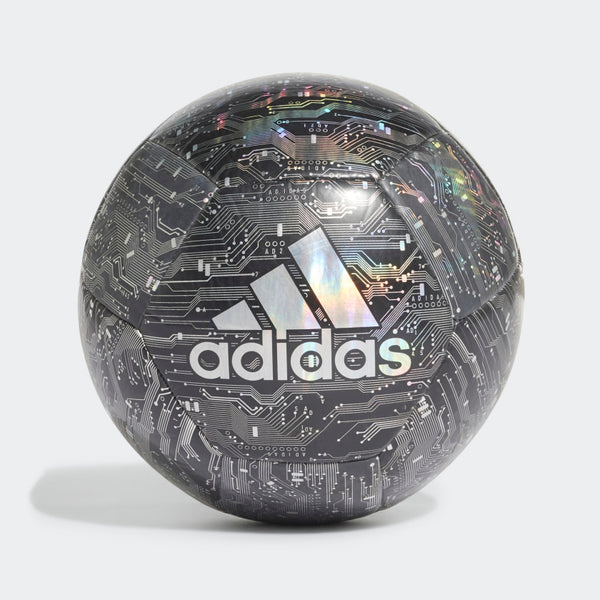 Adidas CPT black silver digital pattern soccer ball