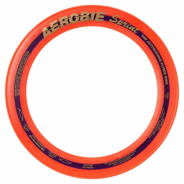 Aerobie 10 inch red flying ring frisbee