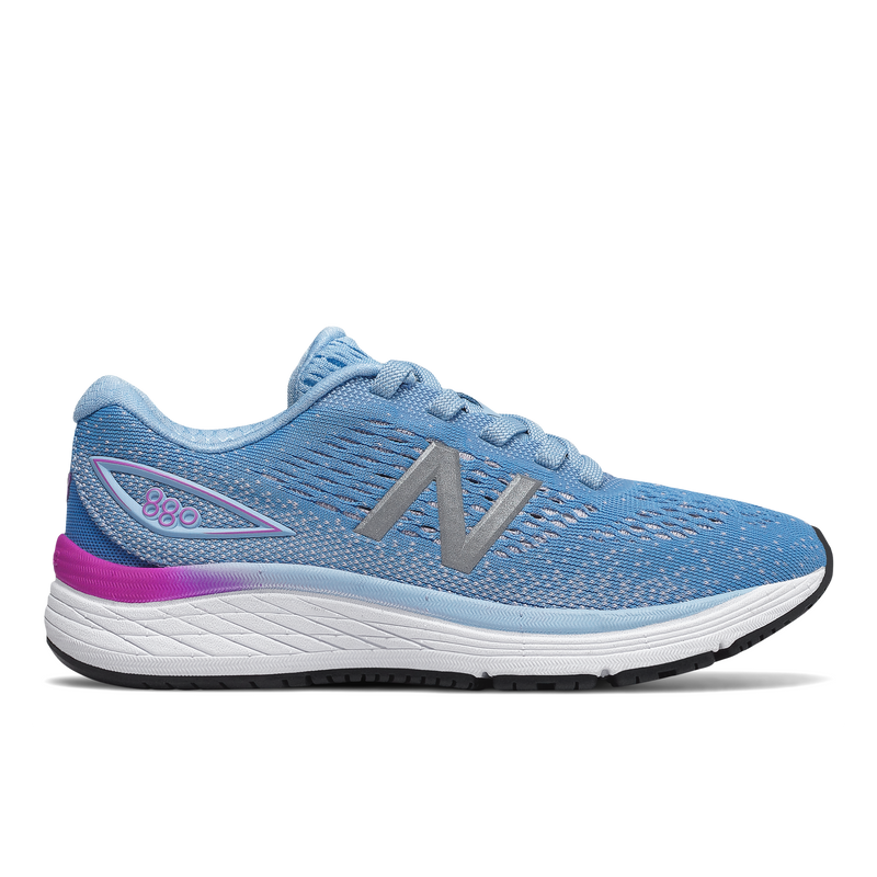 880 V9 light blue sky new balance girls kids running shoes