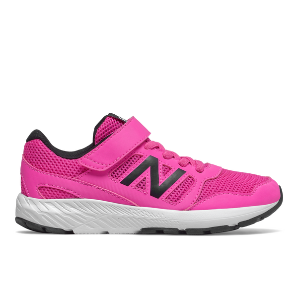 570 VELCRO girls pink new balance pink black white sole kids running shoes