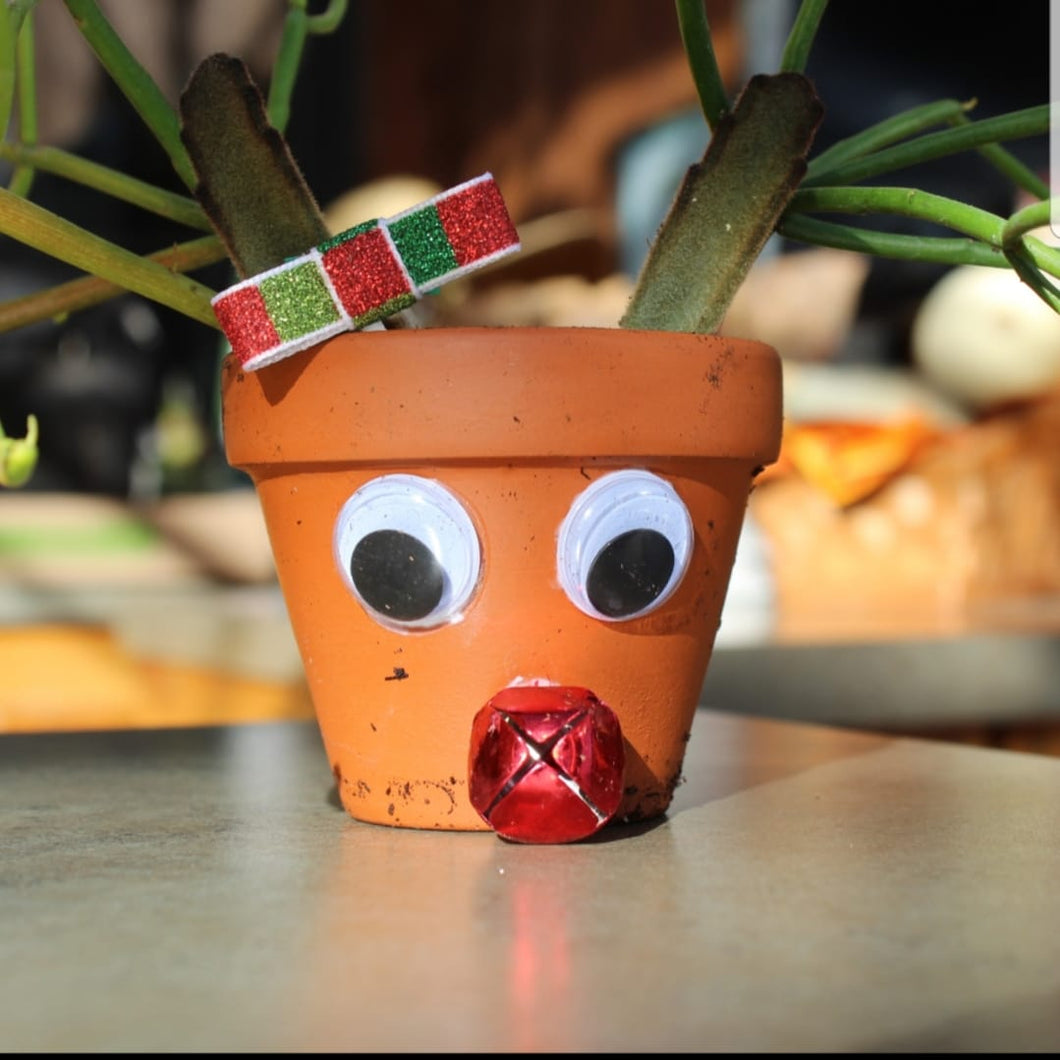 Little Sprouts-Rudolph Pots Make & Take - Dec 12