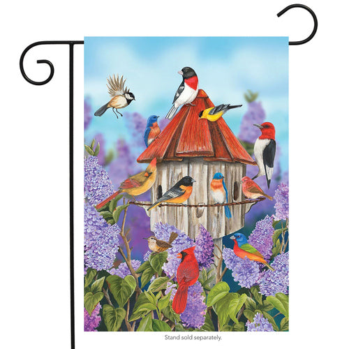 Birds & Lilacs Garden Flag