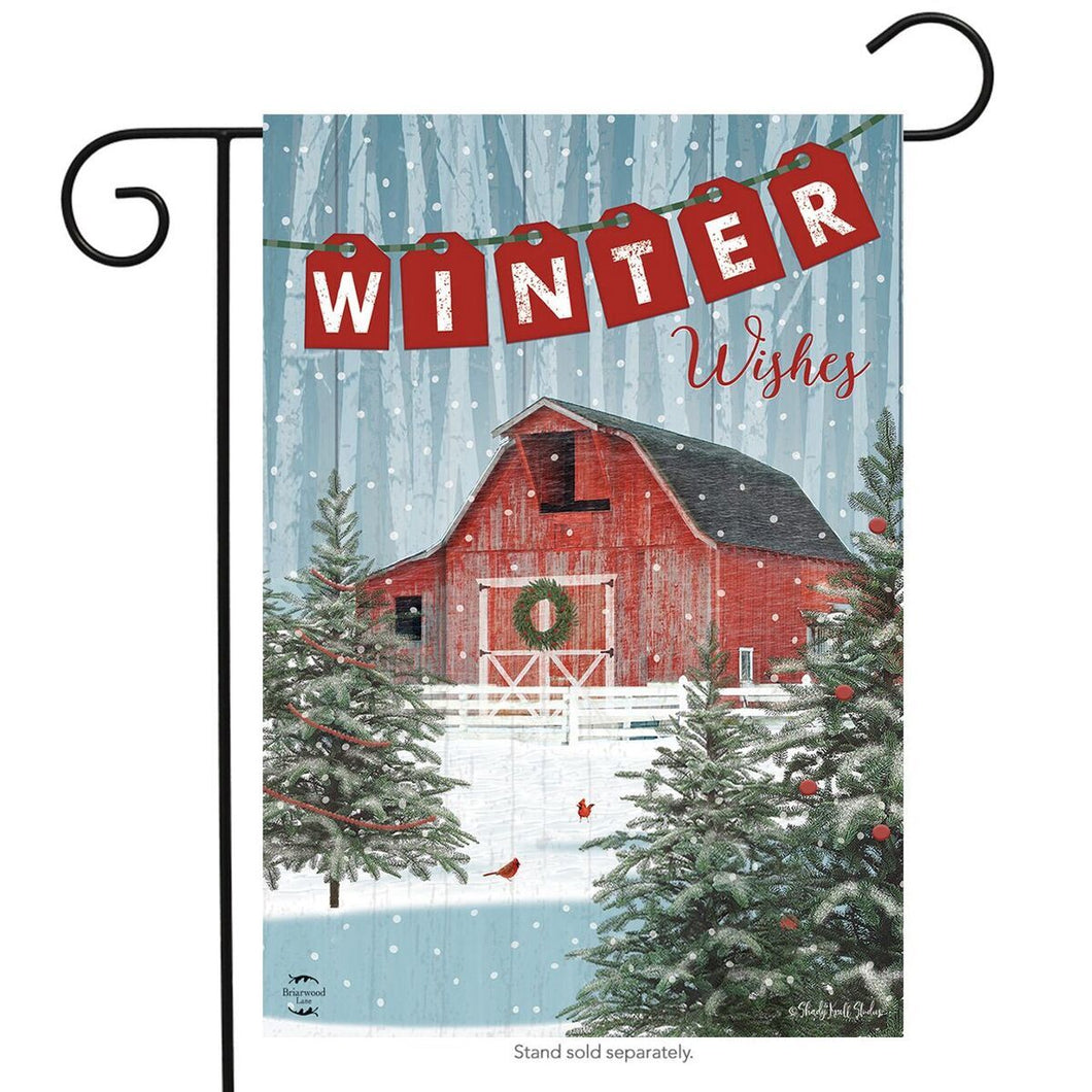 Winter Wishes Garden Flag