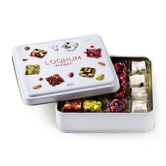 Authentic Gift Box - Handmade Traditional Assorted Turkish Delight - 16 Bites