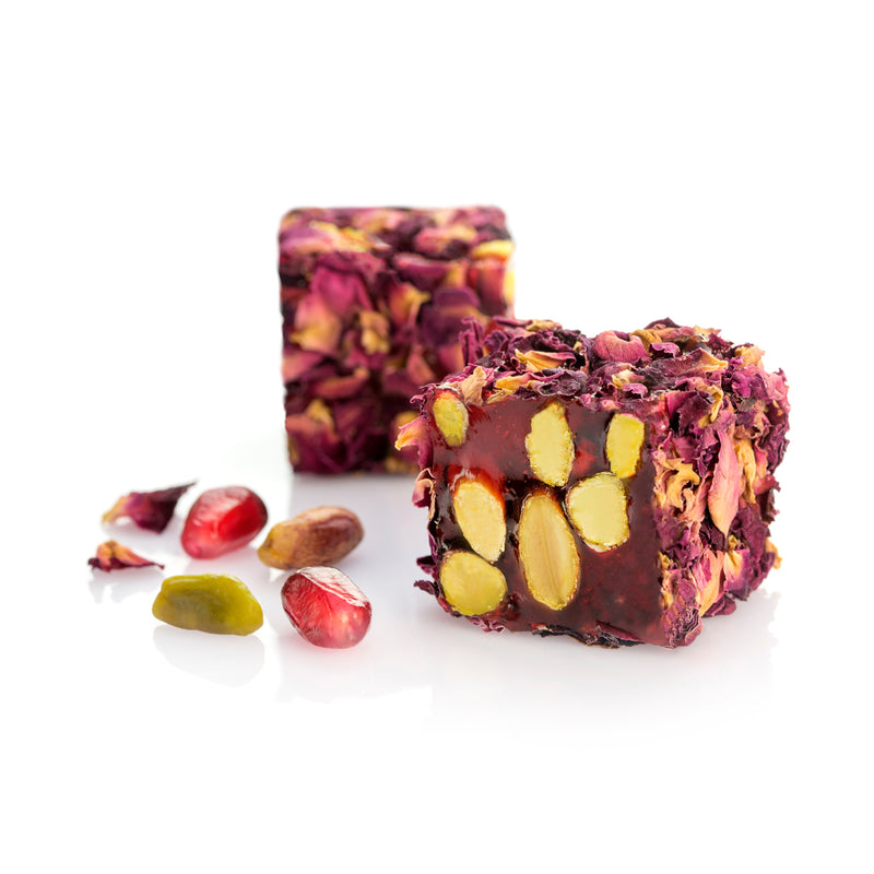 Pistachio & Pomegranate + Natural Rose Petals Delight