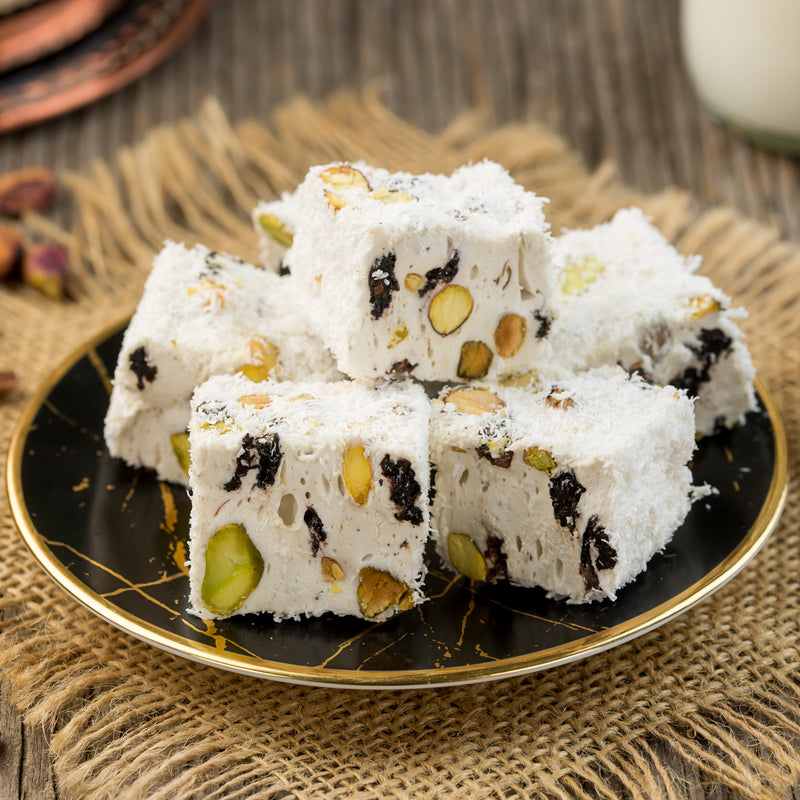 Pistachio, Grape & Milk + Coconut Flakes Delight