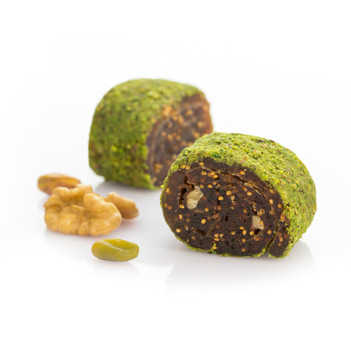 Turkish Delight Roll with Fig - Coated with Ground Pistachio