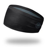 "4.5"" Black Polyester Wrap Headband"