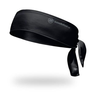 "2.5"" Black Polyester Tie Headband"
