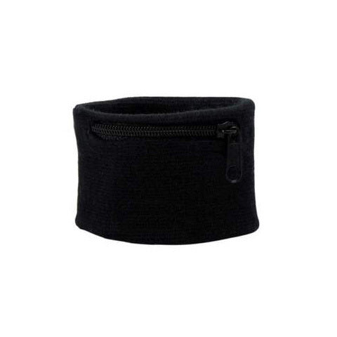 Suddora Zipper Pocket Wristband - Black [100 Pack]