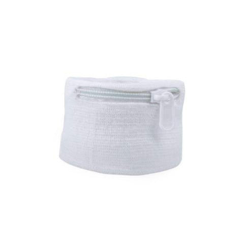 Suddora Zipper Pocket Wristband - White [100 Pack]