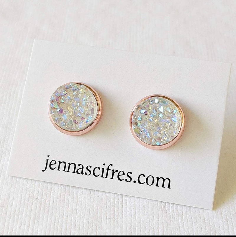 Rose Gold Druzzy Studs