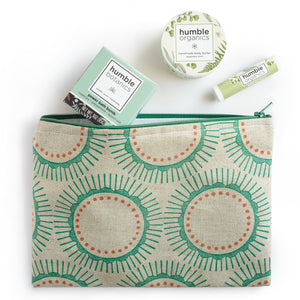 Mint Gift Set with Green Cotton + Steel Pouch
