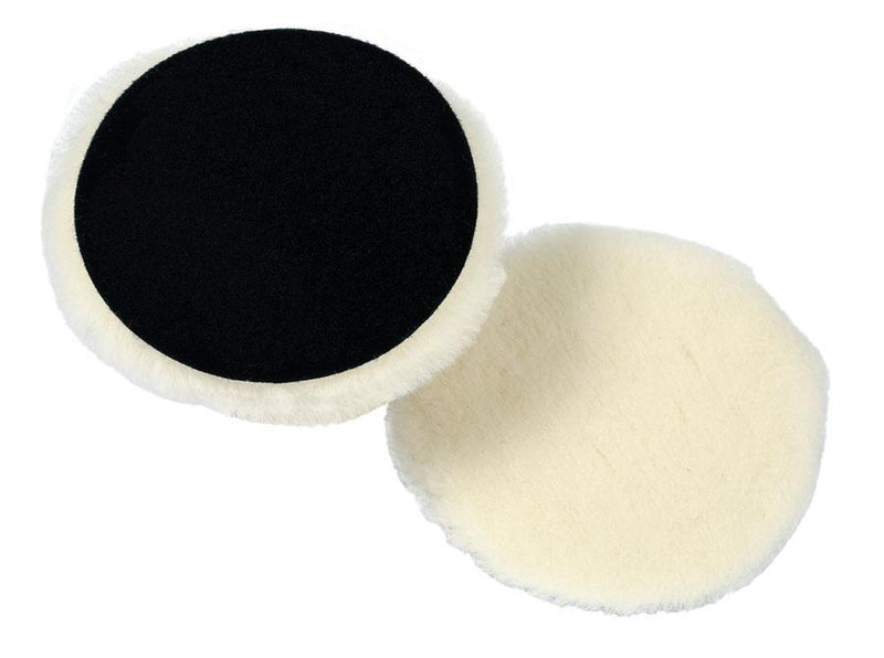 Lake Country Prewashed White Lambswool Knitted Polishing Pad 3.5 inch